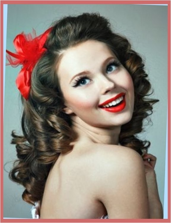 curly hairstyles easy 50s hairstyles for long curly hair in dark with fifties hairstyles for long hair regarding your hairstyle