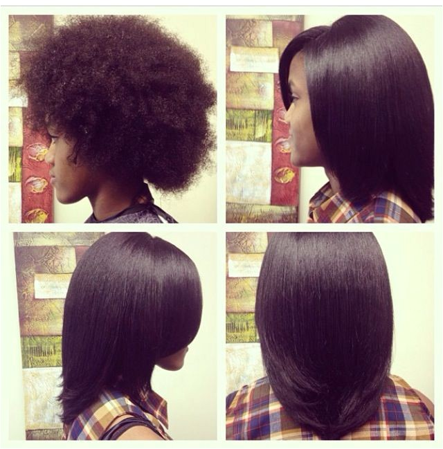 flat iron hairstyles for short natural hair