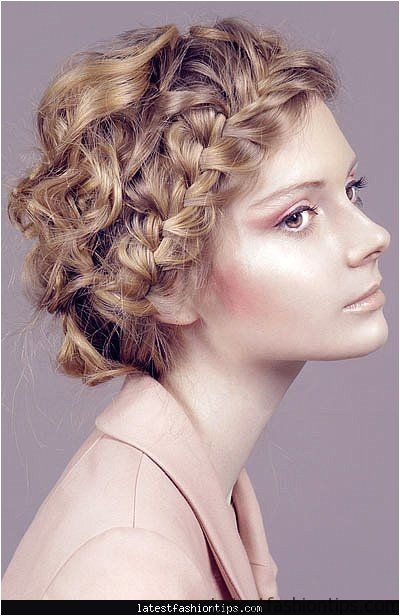 curly hairstyles updos easy