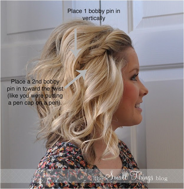 fun easy hair how to a front side twist