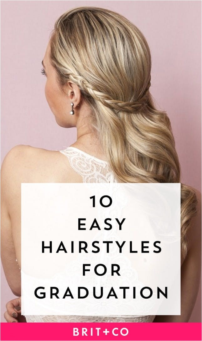 easy graduation hairstyles