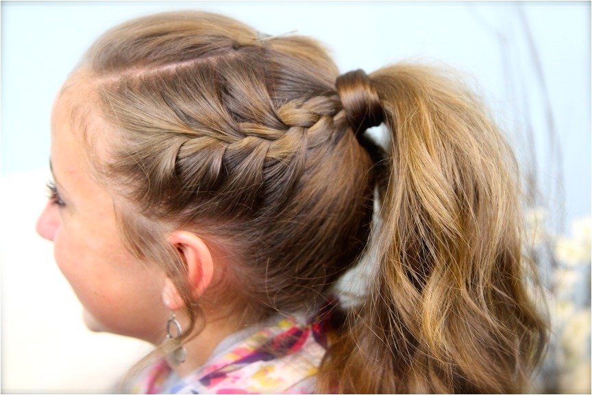 double frenchbacks into high pony cute ponytail ideas