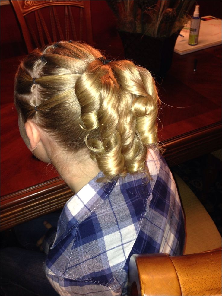 gymnastics hair styles for meets