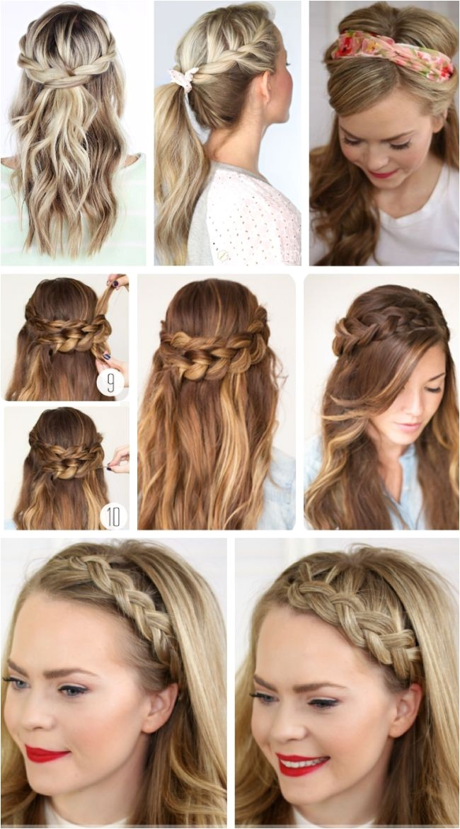 party hairstyles for long hair using step by step easy hairstyles for long hair