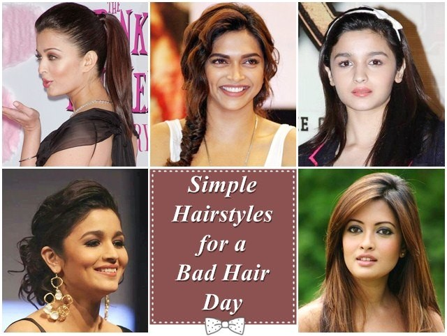 simple hairstyles for a bad hair day