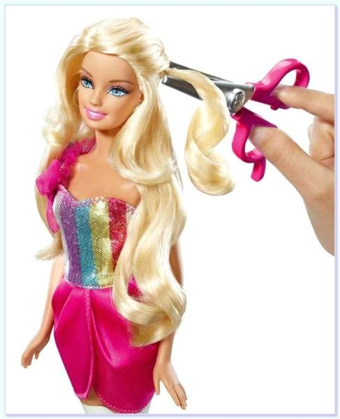 their dolls barbie and the thousand haircuts mattel w3910