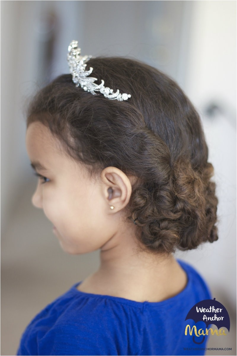 curly hairstyle of the week easy twist and pin updo