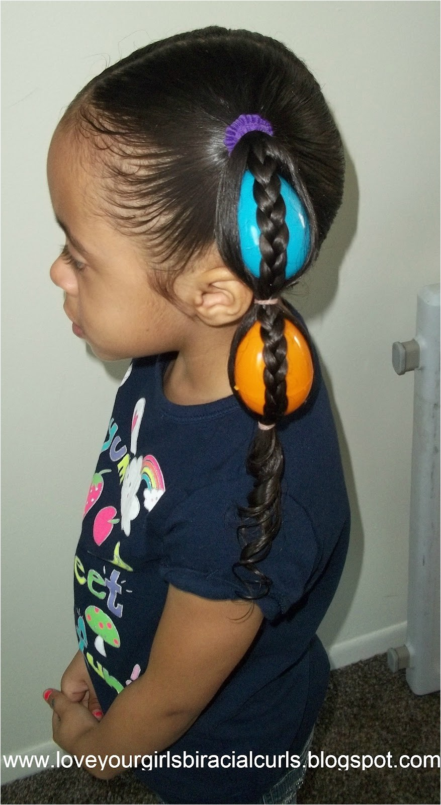egg tails easter hairstyle for girls