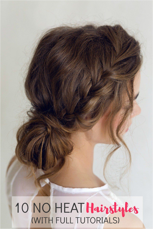 10 no heat hairstyles