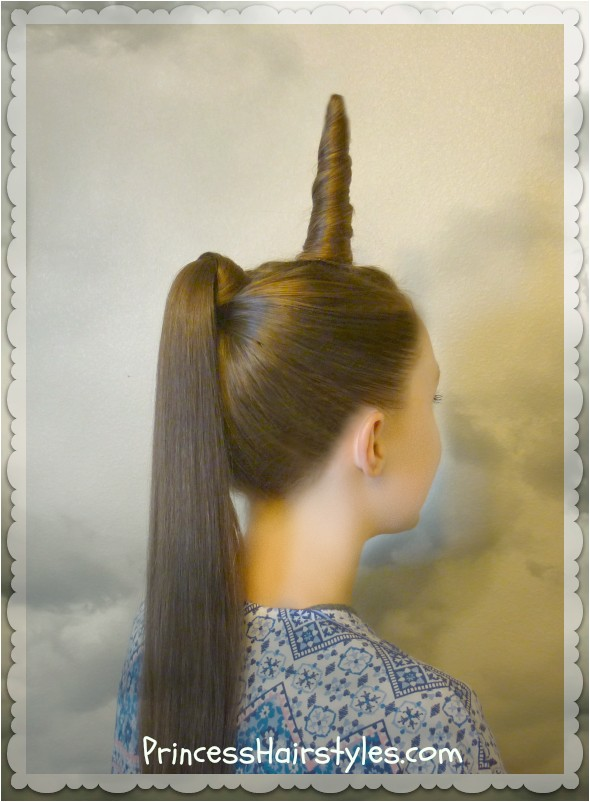 unicorn hairstyle for halloween or