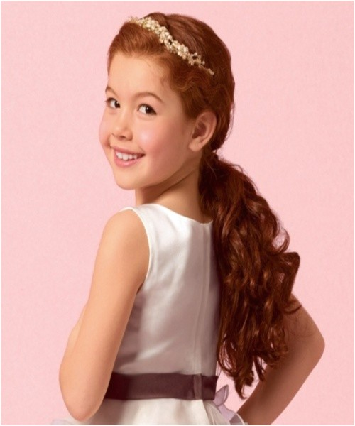 easy hairstyles for kids with curly hair for party