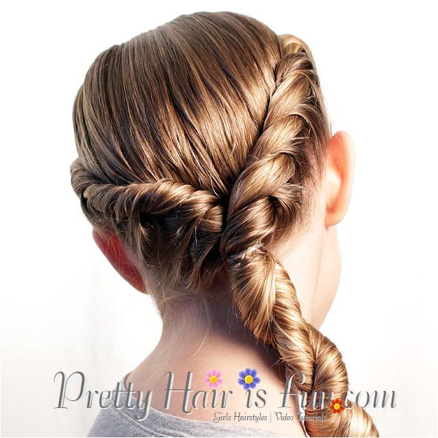 pretty hair is fun double side twist braids rope braids