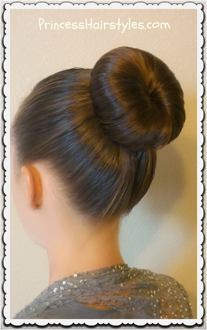 the perfect dance bun and no heat curls