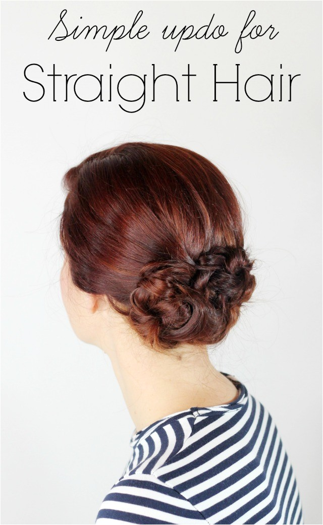 updo for straight hair