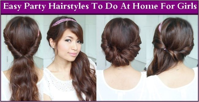 easy party hairstyles home girls