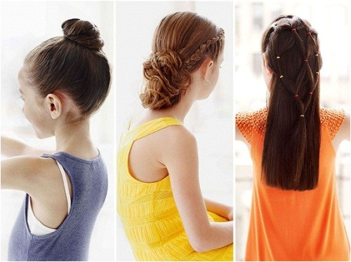 cute and easy hairstyles for kids to do at home images