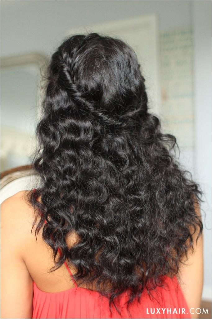 easy hairstyles curly wavy hair