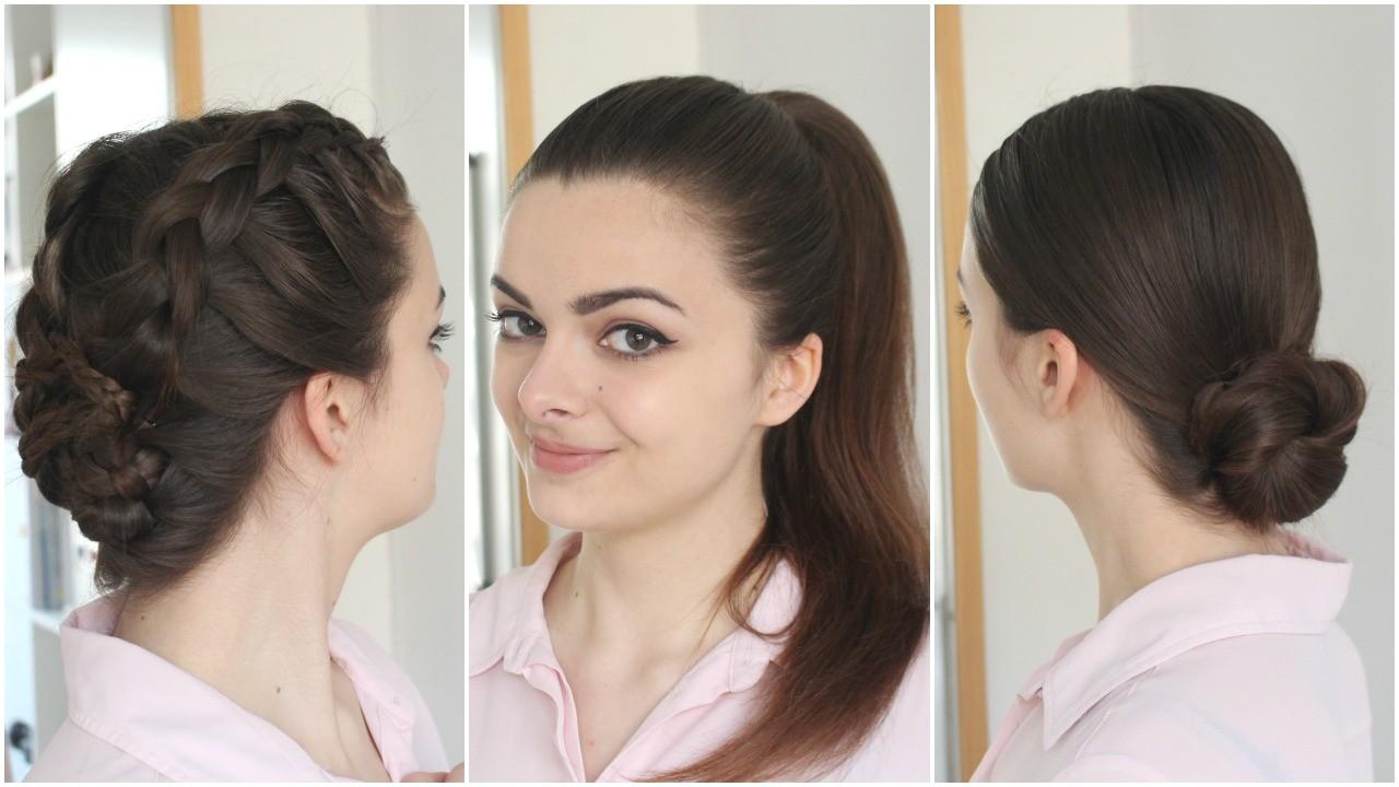 3 hairstyles greasy hair
