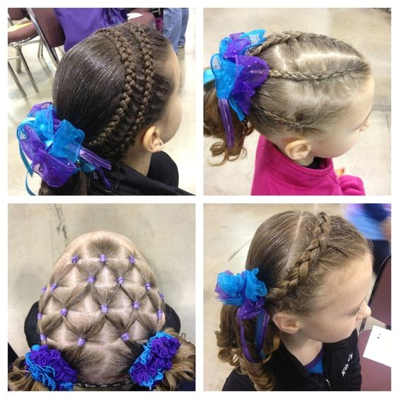 Easy Hairstyles for Gymnastics Competitions Hairstyles Gymnastics Hairstyles and Petition Hair On