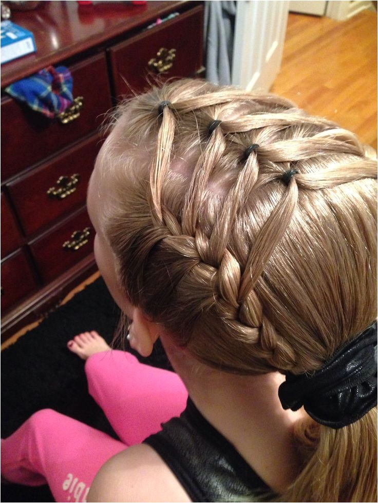 gymnastic meet hairstyles