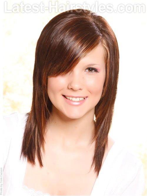 Easy Hairstyles for Medium Hair with Bangs 1