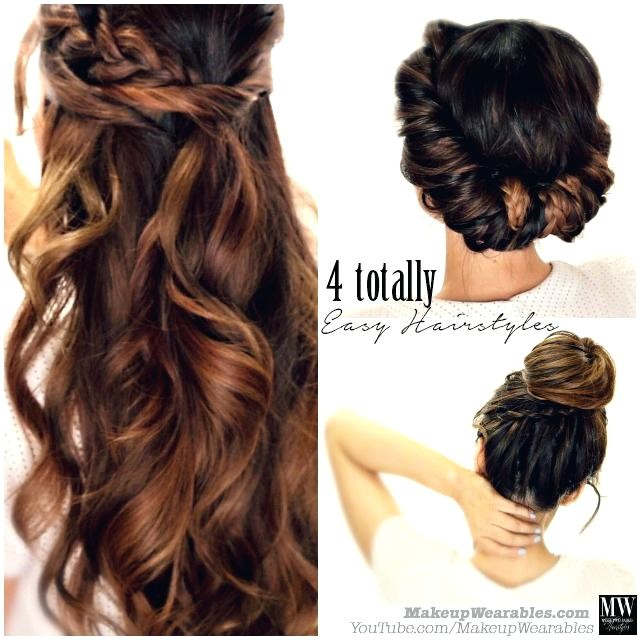 quick hairstyles for long hair step by