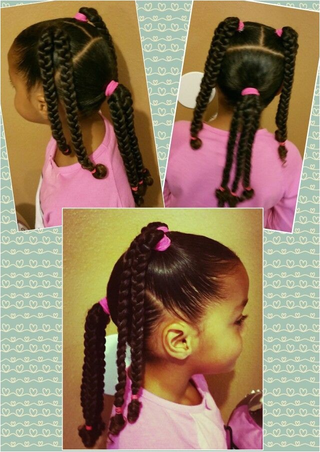 Easy Hairstyles for Mixed Girl Hair 4