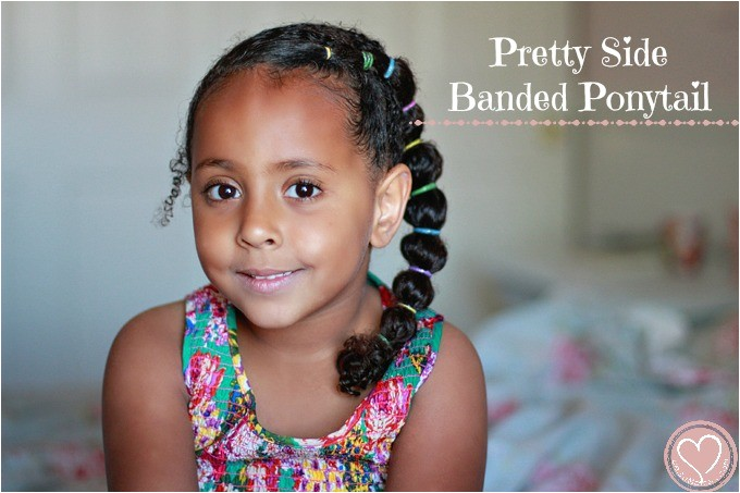 pretty side banded ponytail biracial hairstyles