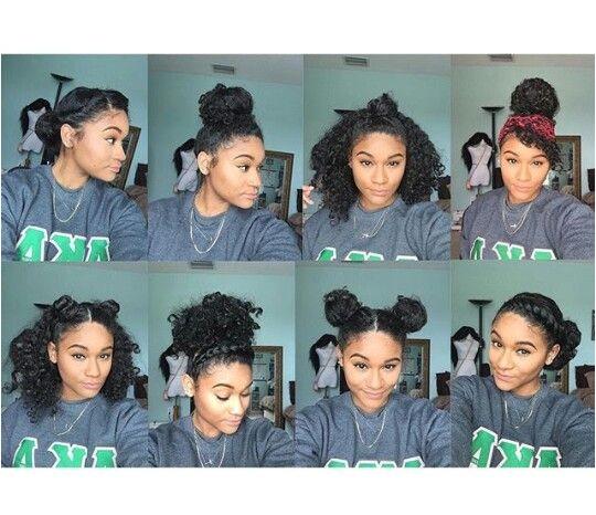 8 bun styles for natural curly hair ig kharissa