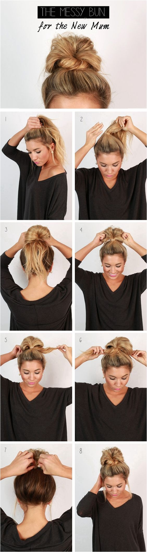 amazing bun updo ideas for long medium length hair