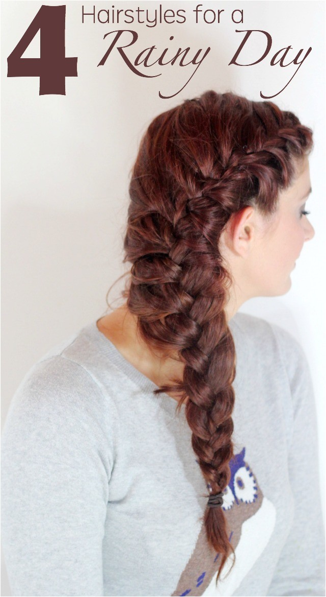 Easy Hairstyles for Rainy Days Rainy Day Hairstyles Ma Nouvelle Mode