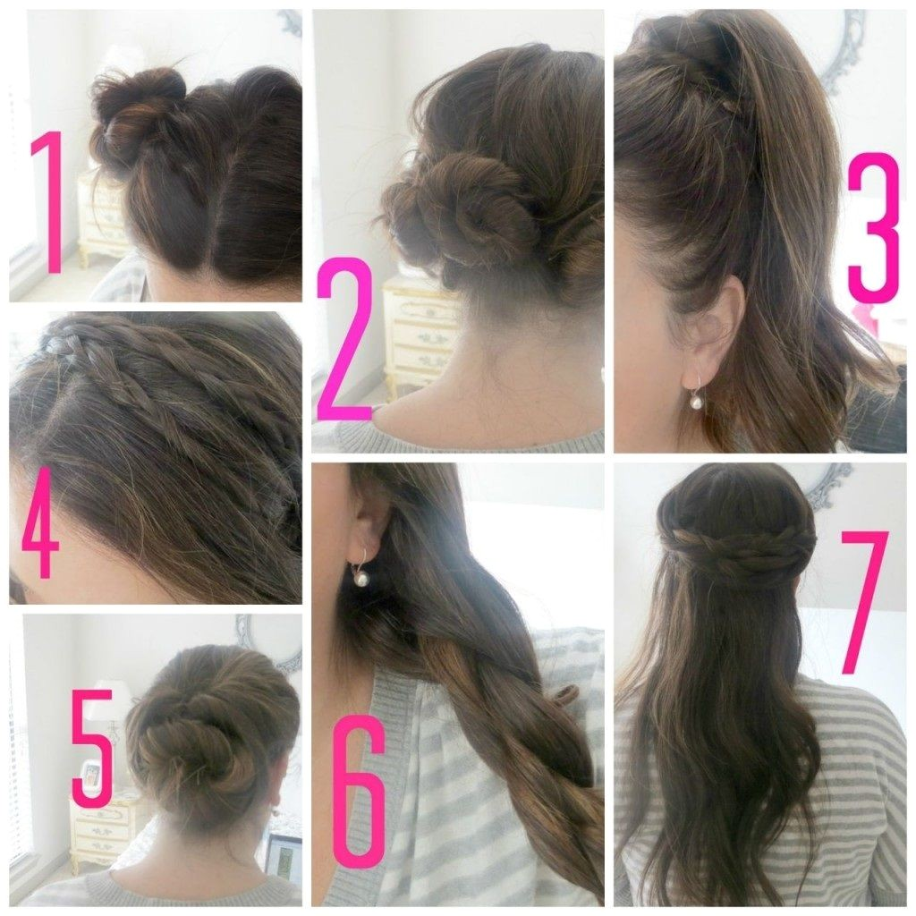 Easy Hairstyles for School Girls Step by Step 1