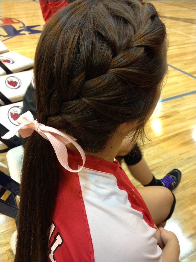 easy school hairstyle for sports