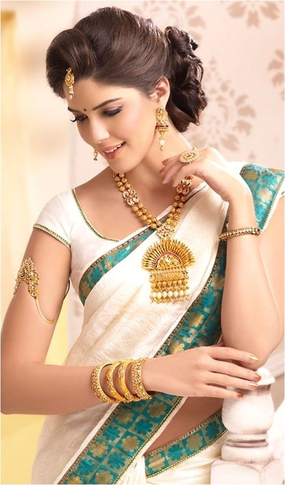 looking traditional hairstyles for silk sarees