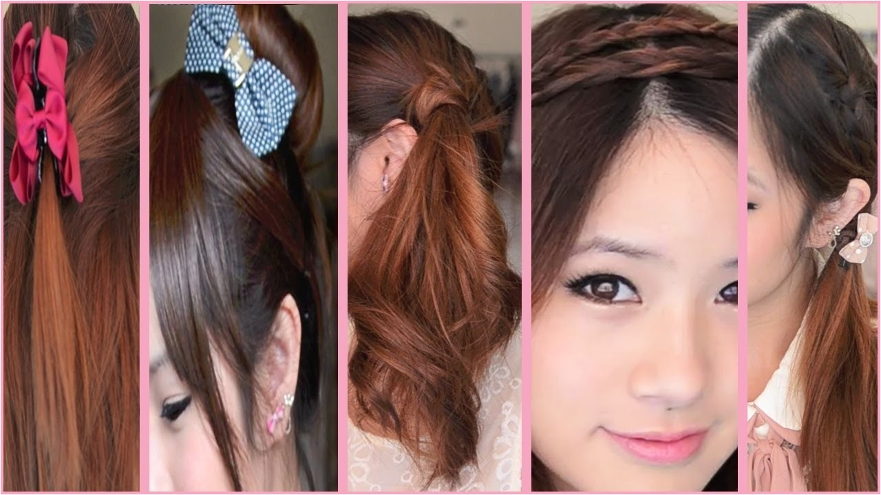 5 quick and easy back to school hairstyles youtube with japanese school hairstyles