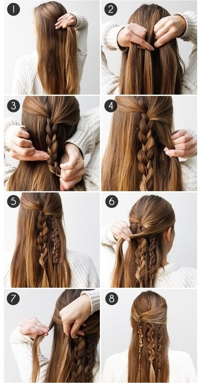 10 easy hairstyles in 5 minutes