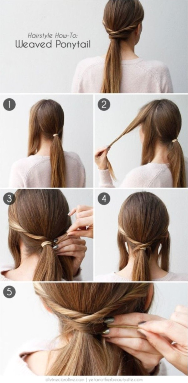 easy hairstyles to do in just 5 minutes or less