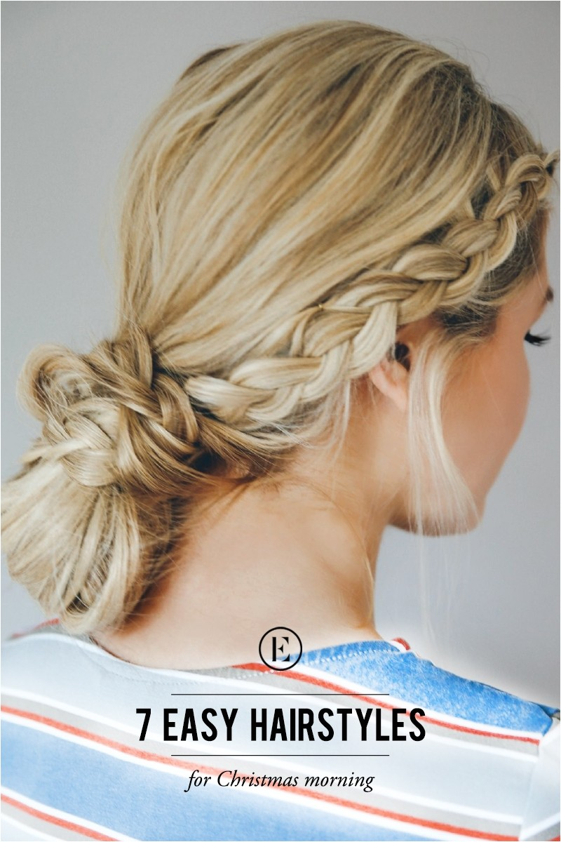 7 easy hairstyles for christmas morning