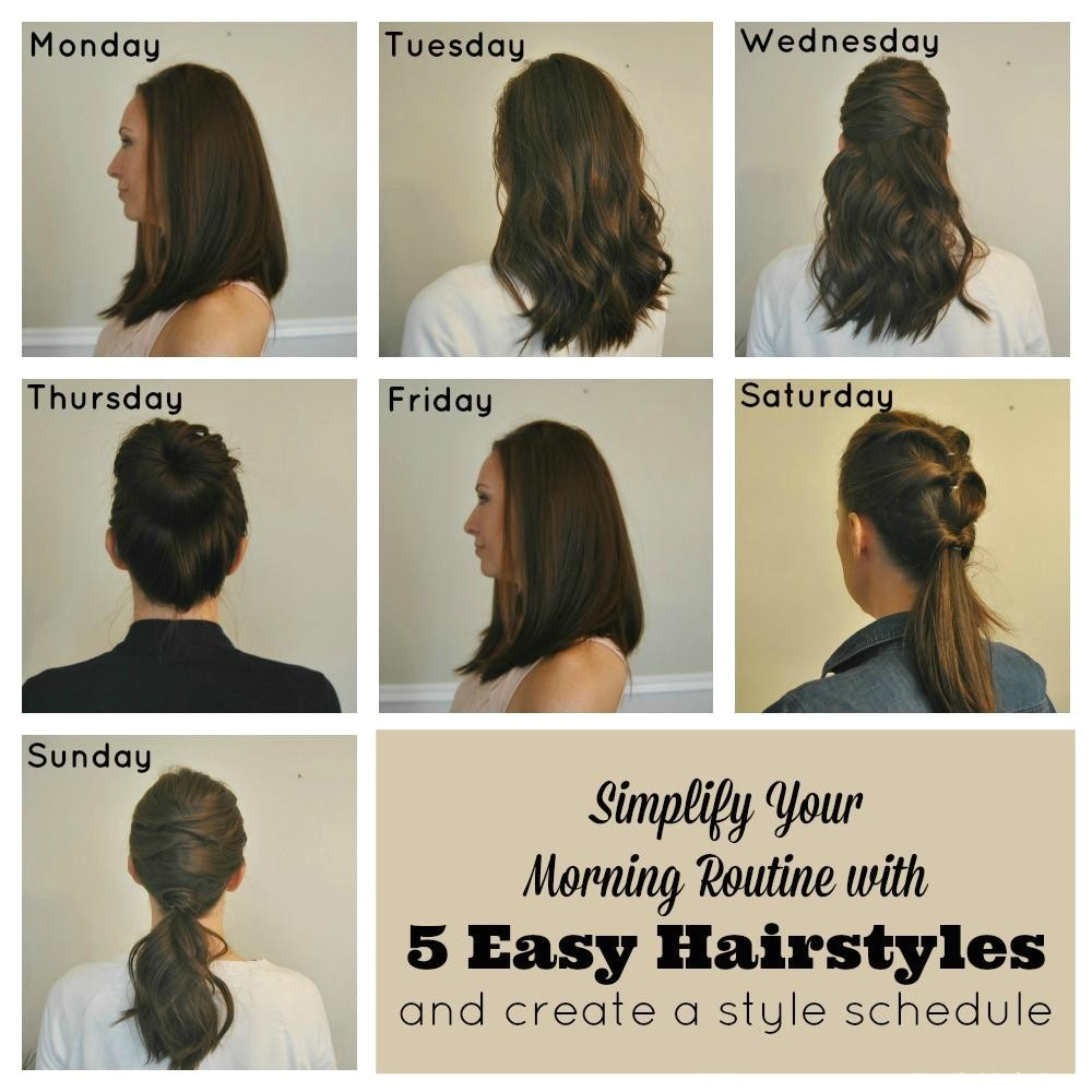 simplify morning routine 5 easy hairstyles create style schedule