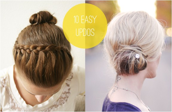 ideas for easy updos for short hair to do yourself