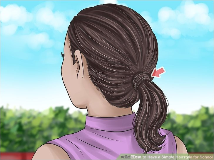 Have a Simple Hairstyle for School