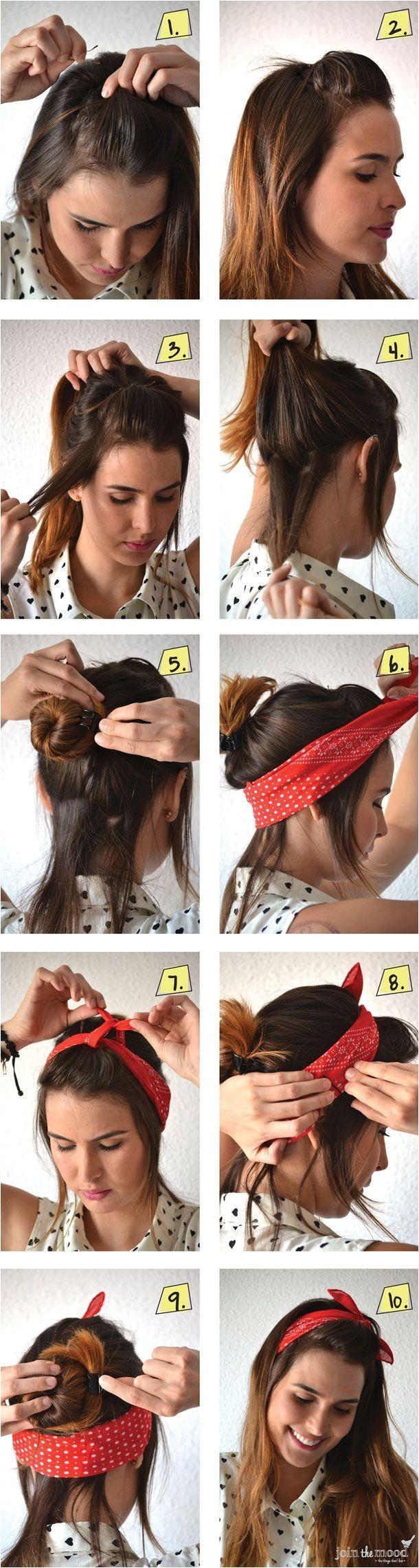 Easy Hairstyles with Bandanas 1000 Ideeën Over Bandana Haar Op Pinterest Bandana Haar