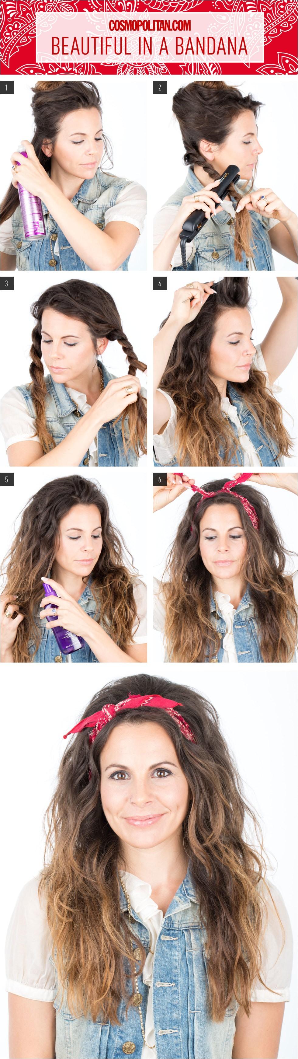 8 easy hair tutorials with bandana