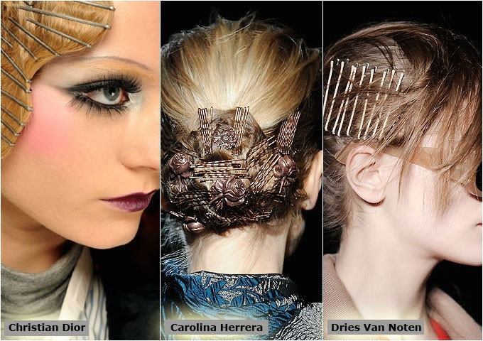 easy hair styles done with bobby pins