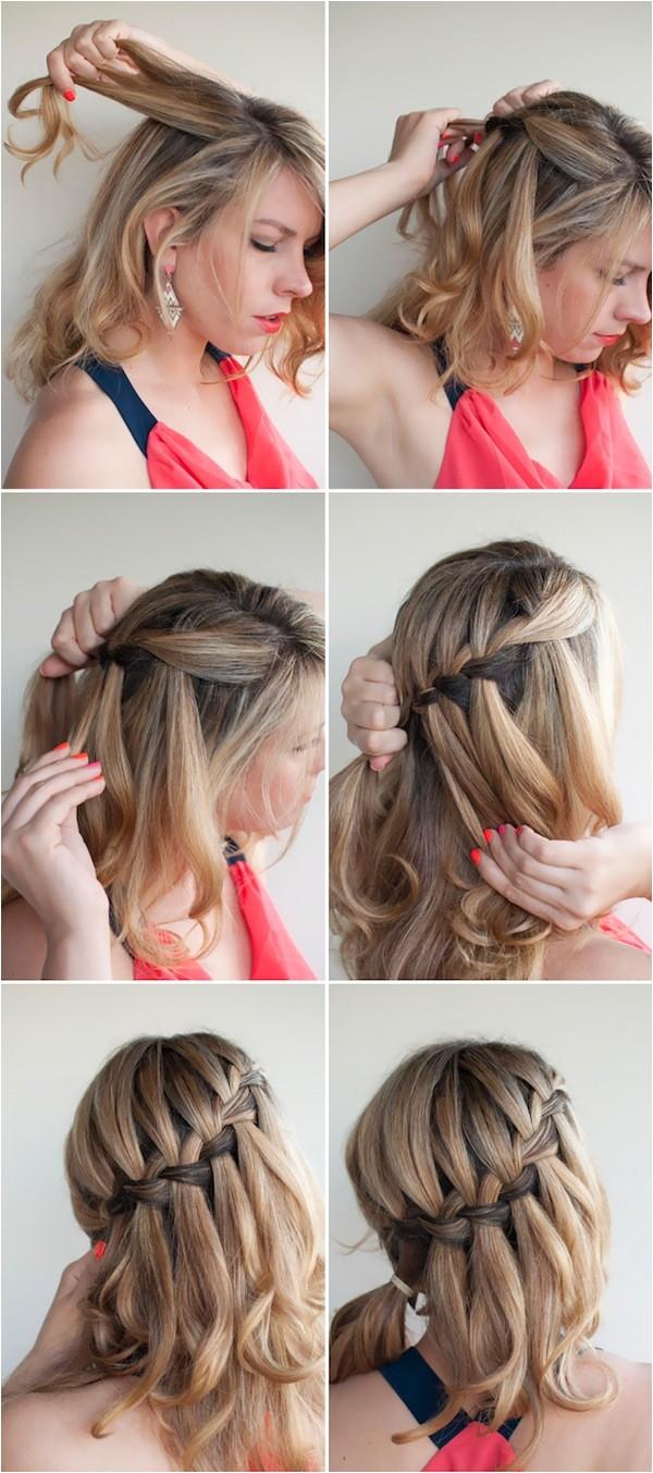 make beautiful waterfall braid waterfall braid tutorials