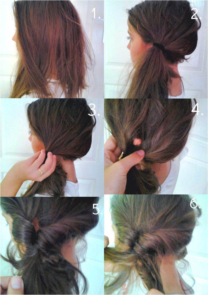 stylish side ponytail