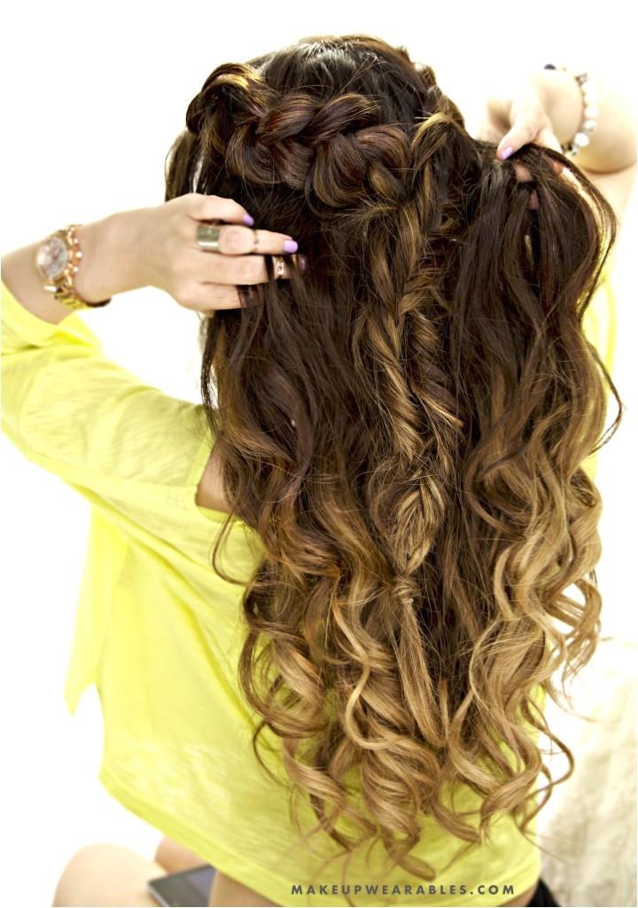 cute bo braid half up half down hairstyle school everyday