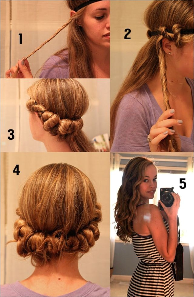 Easy Hairstyles without Heat 2