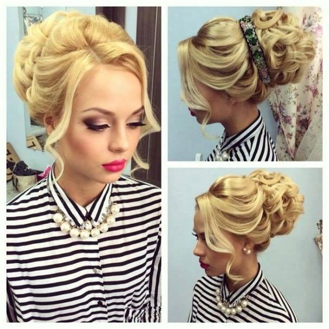 christmas updo hairstyle for party easy to cary