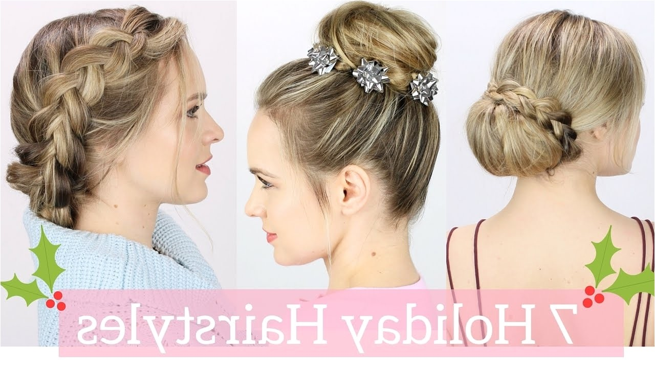 easy holiday party hairstyles